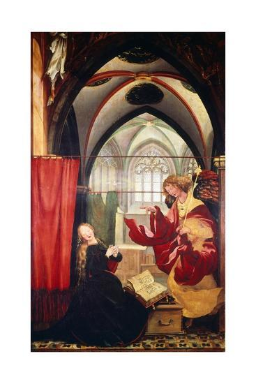 The Annunciation, Detail from the Isenheim Altarpiece, Ca 1515-Matthias Gr?newald-Giclee Print