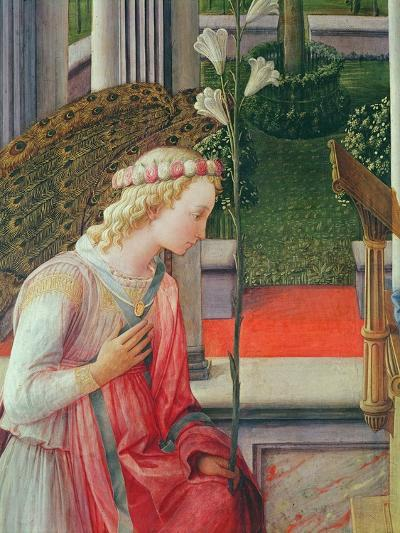 The Annunciation, Detail of the Angel Gabriel-Fra Filippo Lippi-Giclee Print