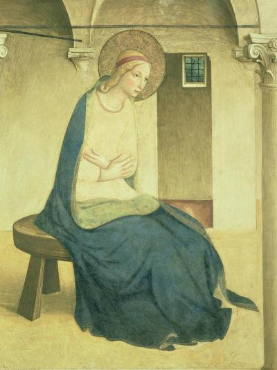 The Annunciation, Detail of the Virgin, circa 1438-45-Fra Angelico-Giclee Print