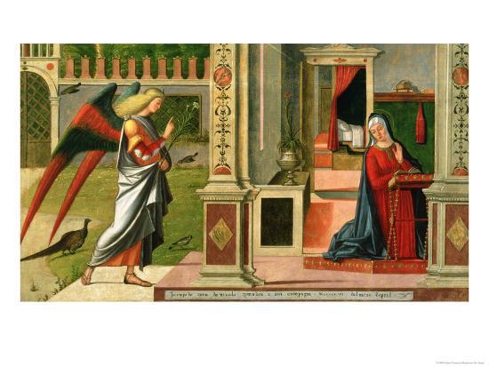 The Annunciation (Detail)-Vittore Carpaccio-Giclee Print
