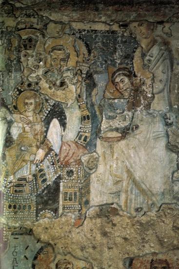 The Annunciation (Fresco in Santa Maria Antiqu), 565-578--Giclee Print
