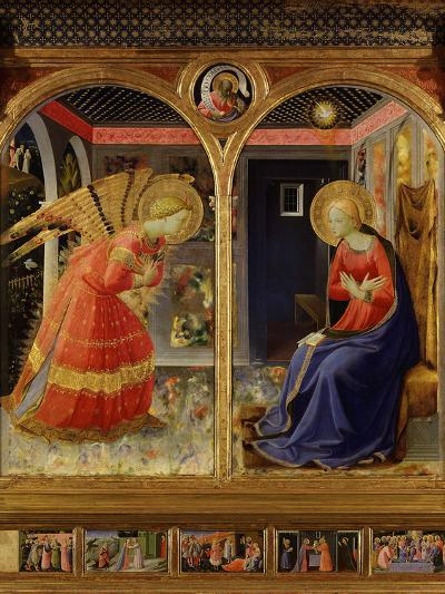 The Annunciation, from C. 1440 Altarpiece of Convent of Montecarlo-Fra Angelico-Photographic Print