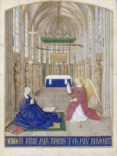 The Annunciation (Hours of Étienne Chevalie)-Jean Fouquet-Giclee Print