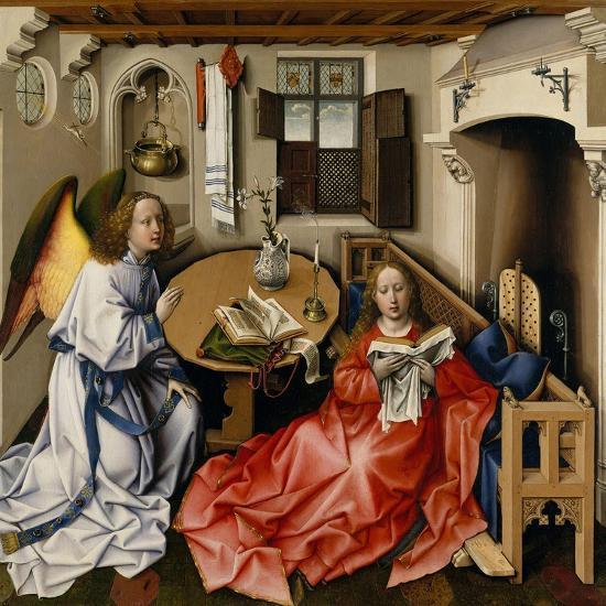 The Annunciation (Mérode Altarpiec), Ca 1428-1432-Robert Campin-Giclee Print