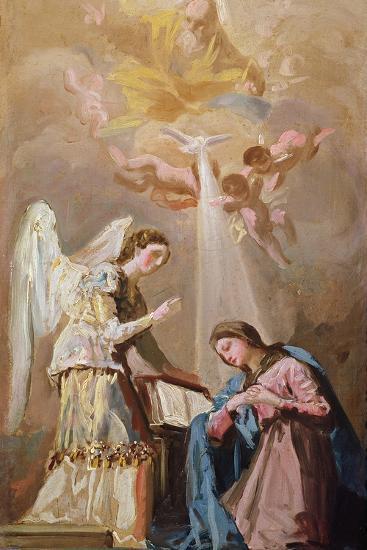 The Annunciation (Oil)-Francisco de Goya-Giclee Print