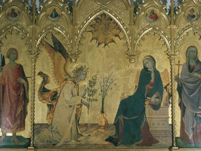 The Annunciation, Simone Martini, Uffizi, Florence, Tuscany, Italy-Walter Rawlings-Photographic Print