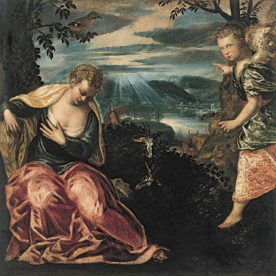 The Annunciation to Manoah's Wife-Jacopo Tintoretto-Giclee Print