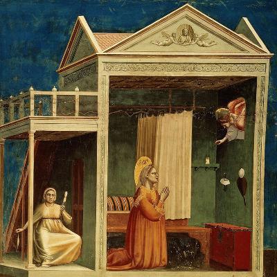 The Annunciation to Saint Anne, 1303-1310-Giotto di Bondone-Giclee Print