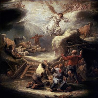 The Annunciation to the Shepherds, 17th Century-Benjamin Gerritz Cuyp-Giclee Print