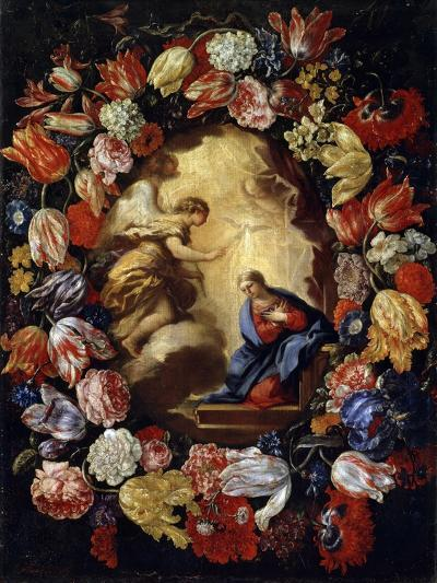 The Annunciation with Flowers, 17th or Early 18th Century-Carlo Maratta-Giclee Print