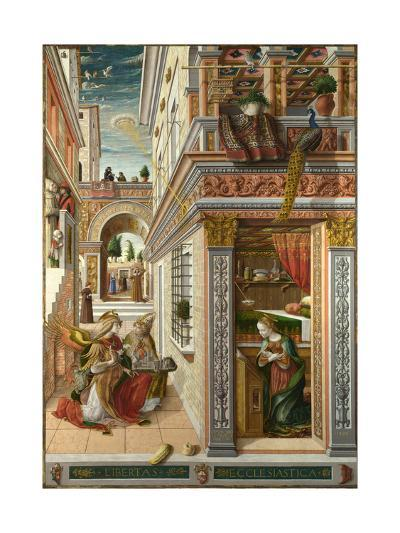 The Annunciation, with Saint Emidius, 1486-Carlo Crivelli-Giclee Print