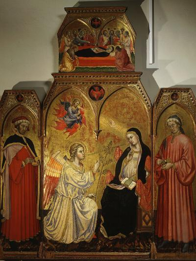 The Annunciation, with Saints Cosmas and Damian, 3rd Century Martyrs-Taddeo di Bartolo-Photographic Print