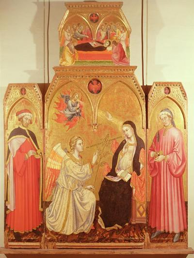 The Annunciation with St. Cosmas and St. Damian, 1409-Taddeo di Bartolo-Giclee Print