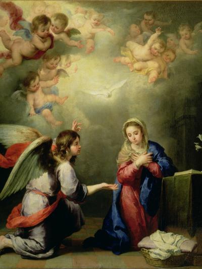 The Annunciation-Bartolome Esteban Murillo-Giclee Print