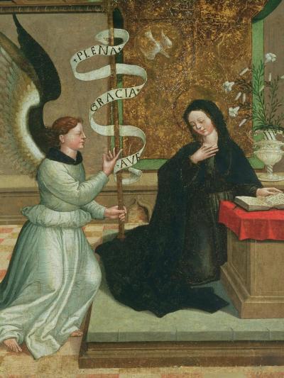 The Annunciation-Juan de Borgona-Giclee Print