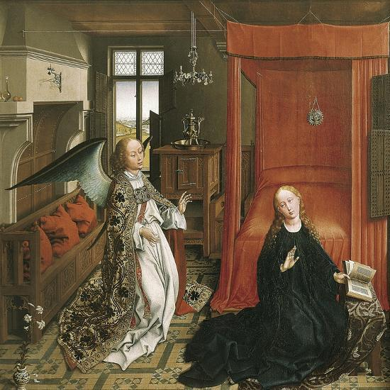 The Annunciation-Rogier van der Weyden-Art Print