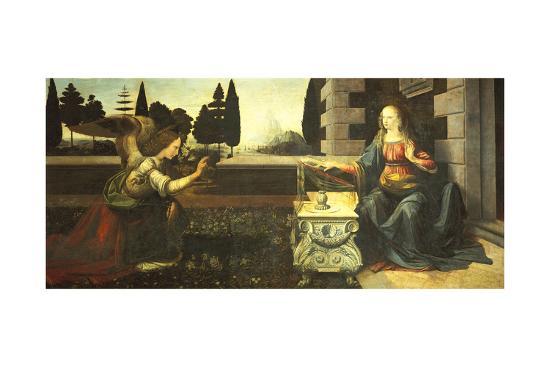 The Annunciation-Leonardo da Vinci-Giclee Print
