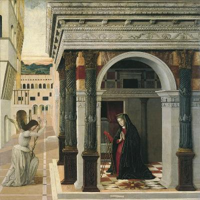 The Annunciation-Gentile Bellini-Giclee Print