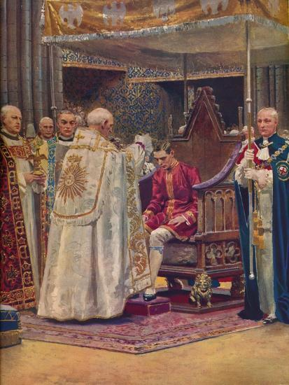 'The Anointing: The Archbishop Making the Sign of the Cross on the King's Head', 1937-Unknown-Giclee Print