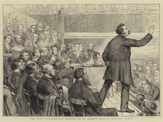 The Anti-Ultramontane Meeting at St James's Hall, a Portrait Group-Joseph Nash-Giclee Print