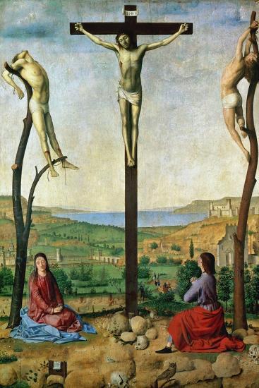 The Antwerp Crucifixion, 1454-1455-Antonello da Messina-Giclee Print