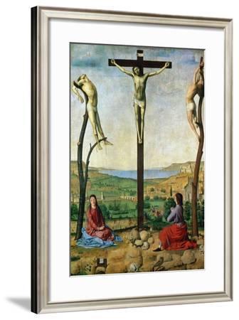 The Antwerp Crucifixion, 1454-1455-Antonello da Messina-Framed Giclee Print