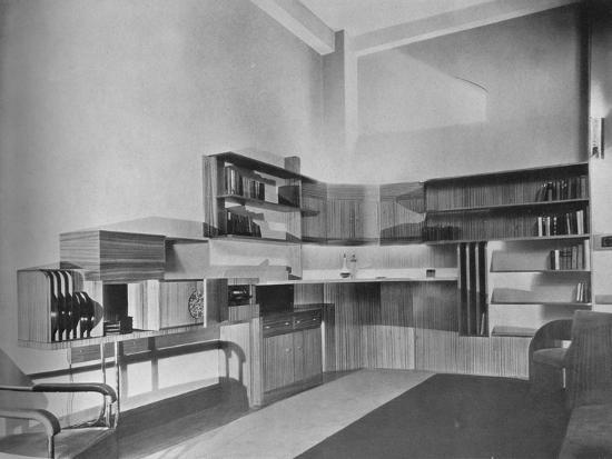 'The apartment of Ben Herzberg, New York. Designed by Howe and Lescaze', 1933-Unknown-Photographic Print