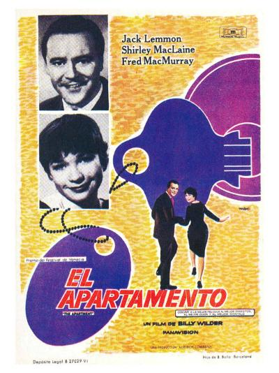 The Apartment, Spanish Movie Poster, 1960--Art Print