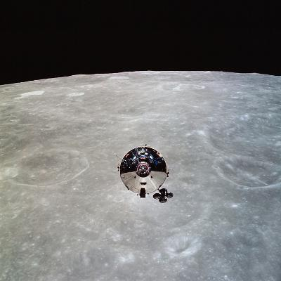 The Apollo 10 Command And Service Modules in Lunar Orbit-Stocktrek Images-Photographic Print