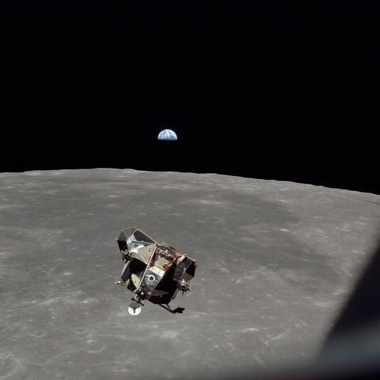 The Apollo 11 Lunar Module Ascending from Moon's Surface, July 20, 1969--Photo