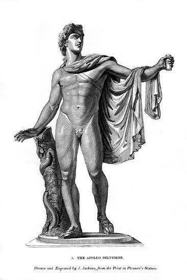 The Apollo Belvidere, 1843- Calamis-Giclee Print