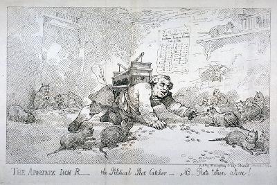 The Apostate Jack R - the Political Rat Catcher - Nb. Rats Taken Alive!, 1784-Thomas Rowlandson-Giclee Print