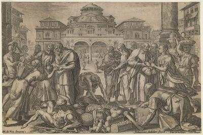 The Apostles Distribute the Money to Those in Need, Ca. 1600-Jan Sadeler-Giclee Print
