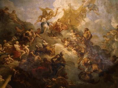 The Apotheosis of Hercules, Ceiling of Hercules Salon, Decorated 1710-Francois Lemoyne-Giclee Print