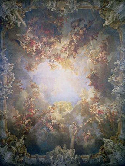 The Apotheosis of Hercules, from the Ceiling of the Salon of Hercules, 1733-6-Francois Lemoyne-Giclee Print