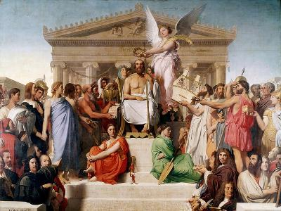 The Apotheosis of Homer, 1827-Jean-Auguste-Dominique Ingres-Giclee Print