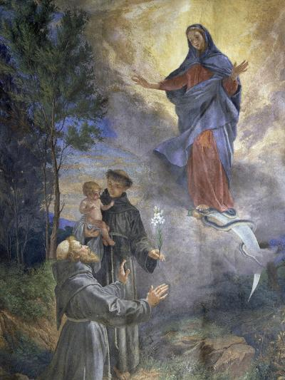The Appearance of the Immaculate Conception to Saint Francis of Assisi and Saint Anthony of Padua--Giclee Print