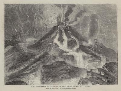 The Appearance of Vesuvius on the Night of the 23 August--Giclee Print
