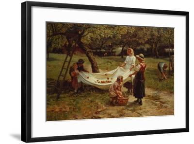 1880 Canvas Wall Art Print Home Decor The Apple Gatherers