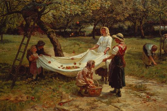 The Apple Gatherers, 1880-Frederick Morgan-Giclee Print
