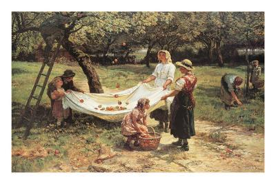 The Apple Gatherers-Frederick Morgan-Art Print