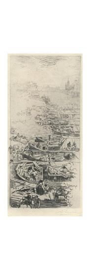 'The Apple Market', 1915-Auguste Lepere-Giclee Print