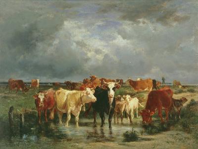 The Approach of a Storm-Emile van Marcke de Lummen-Giclee Print