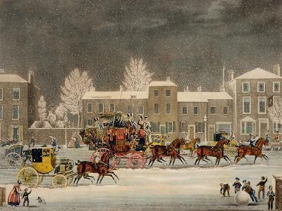 The Approach to Christmas-James Pollard-Giclee Print