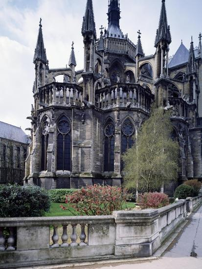 The Apse of Cathedral of Notre-Dame , Reims, France, 13th Century--Giclee Print