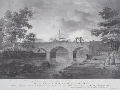 The Aqueduct at Barton, Near Manchester, 1793-William Orme-Giclee Print