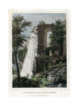The Aqueduct at Wilhelmshöhe, Germany-J Umbach-Giclee Print