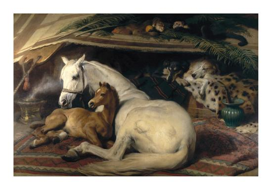 The Arab Tent, 1866-Edwin Henry Landseer-Premium Giclee Print