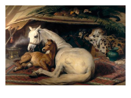 The Arab Tent, 1866-Edwin Henry Landseer-Art Print
