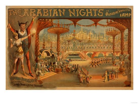 The Arabian Nights - Aladdin's Wonderful Lamp Poster-Lantern Press-Art Print